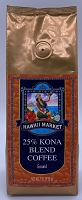 Hawaii Market 25% Kona Blend Coffee 7 ounce Ground